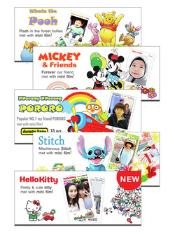 Fujifilm Instax Mini Cartoon Films 5 Designs Design 1 Hello Kitty ALL SOLD 2 Micky Mouse 3 Winnie The Pooh